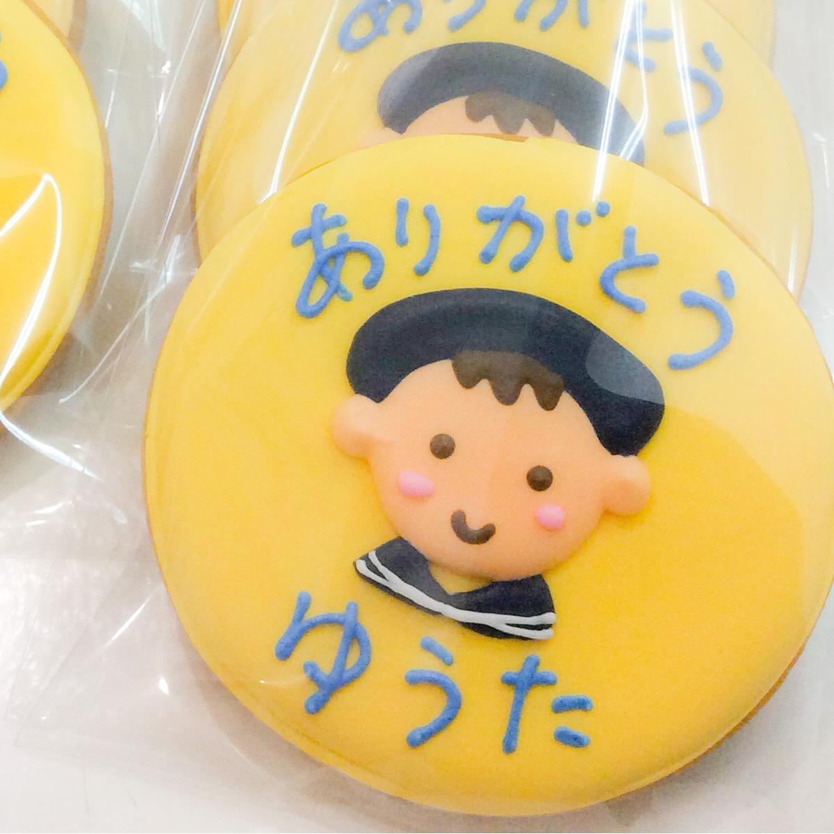 【Gallery】卒園御礼に似顔絵入りサンクスクッキー