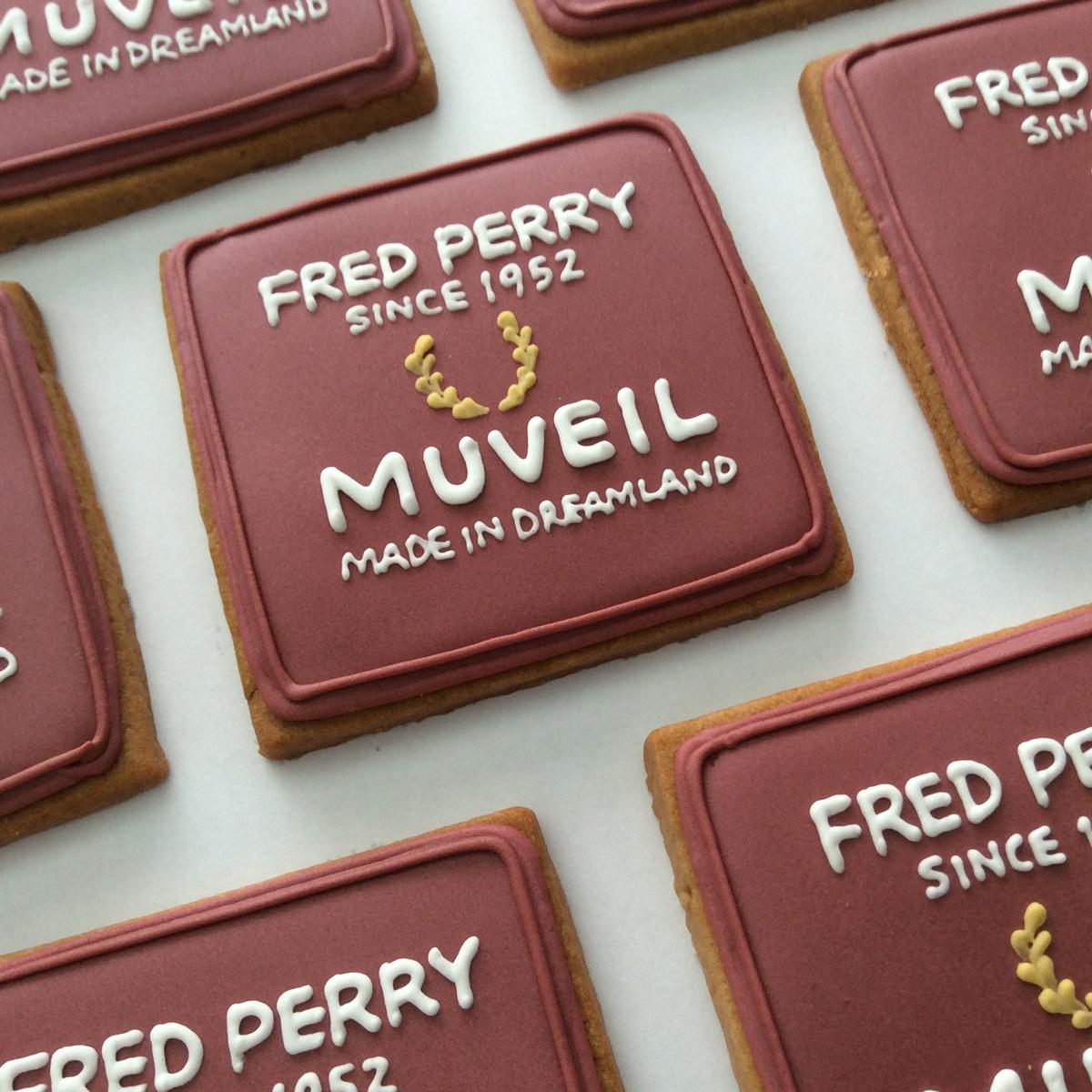 「MUVEIL / FRED PERRY」ノベルティクッキー