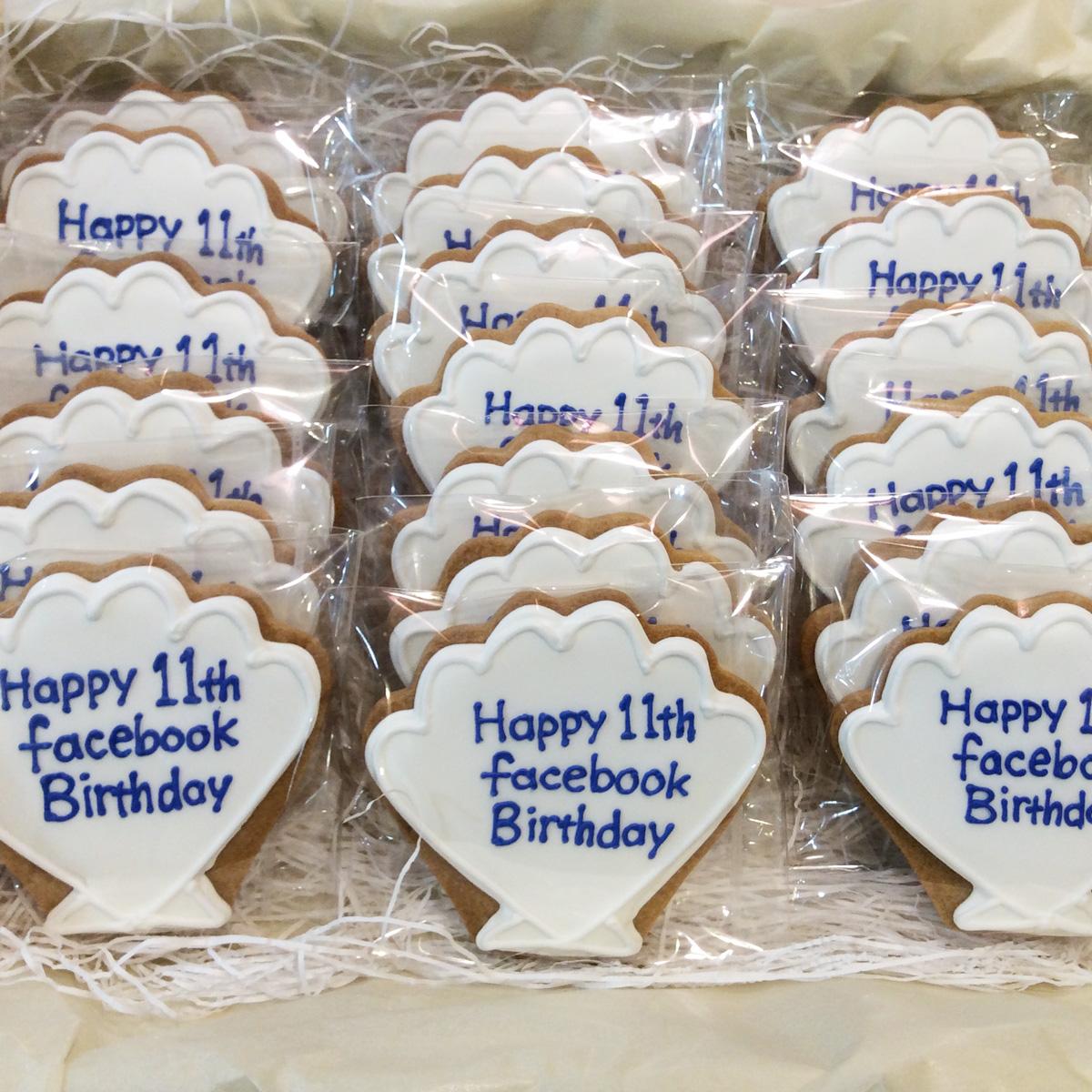 「facebook」11周年記念 クッキー