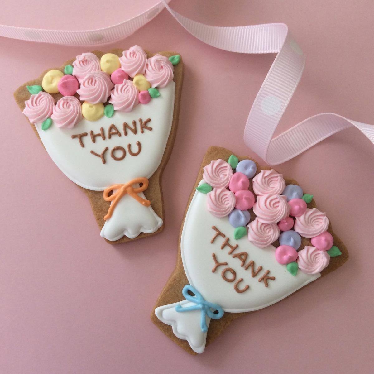 オンライン商品)Thank you ブーケクッキー